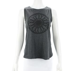 SOULCYCLE CHARCOAL GREY WHEEL TANK TOP SIZE M